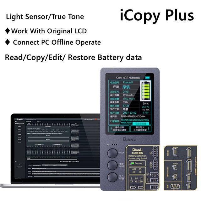 Icopy plus para 7 a 11 pro max toque vibrar verdadeiro tom sensor de luz data da bateria ler/escrever/editar ferramenta de reparo programador recuperação