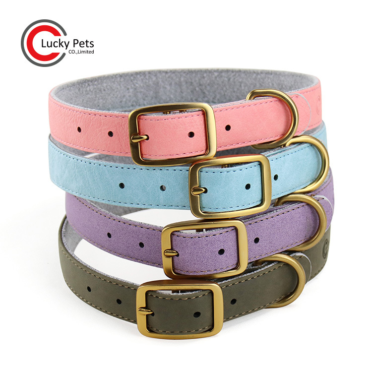 2020 New Style Pet Supplies Adjustable Fang Pi Pu Dog Neck Ring Artificial Leather Pet Collar
