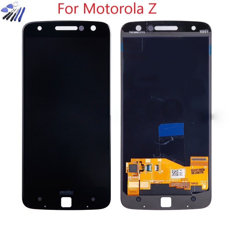 Burn-shadow AMOLED For Motorola MOTO Z Droid XT1650-01 XT1650-03 LCD Display Touch Screen Digitizer For Moto Z Force XT1650  LCD