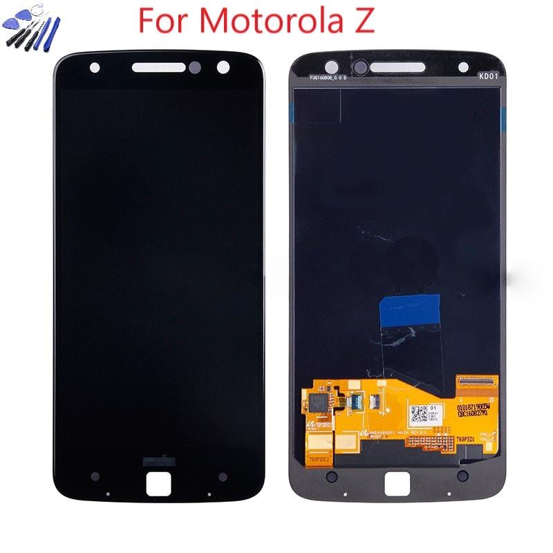 Burn-shadow AMOLED For Motorola MOTO Z Droid XT1650-01 XT1650-03 LCD Display Touch Screen Digitizer For Moto Z Force XT1650  LCD