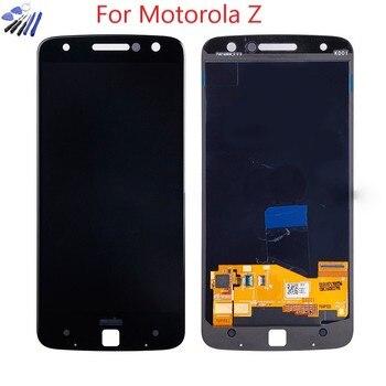 Original AMOLED For Motorola MOTO Z Droid XT1650 XT1650-03 LCD Display Touch Screen Digitizer For Moto Z XT1650 LCD Burn-shadow geometric chromatic 08 motorola droid 2 skinit skin