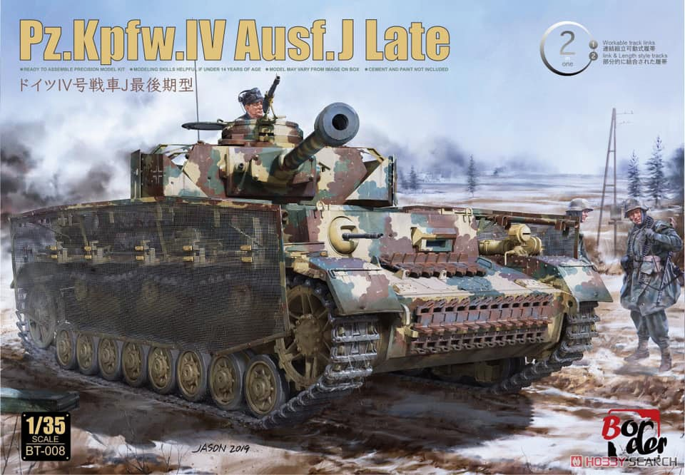 Border BT-008 1/35 Scale Pz.Kpfw.IV Ausf.J.Late TANK Display Toy Plastic Assembly Model Kit