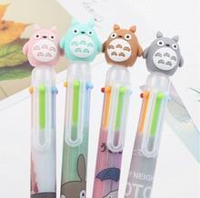 40PCS Korean Style Cartoon Colorful Totoro Silicone Head Six Colors Ballpoint Pen  Multicolor Ballpoint Pen creative resin axe style ballpoint pen