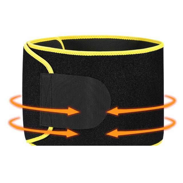 Adjustable Fitness Belt Men Women Sport Shapewear Sweat Belt Waist Cincher Trainer Trimmer Gym BodyBuilding Shaper 20*110CM 5