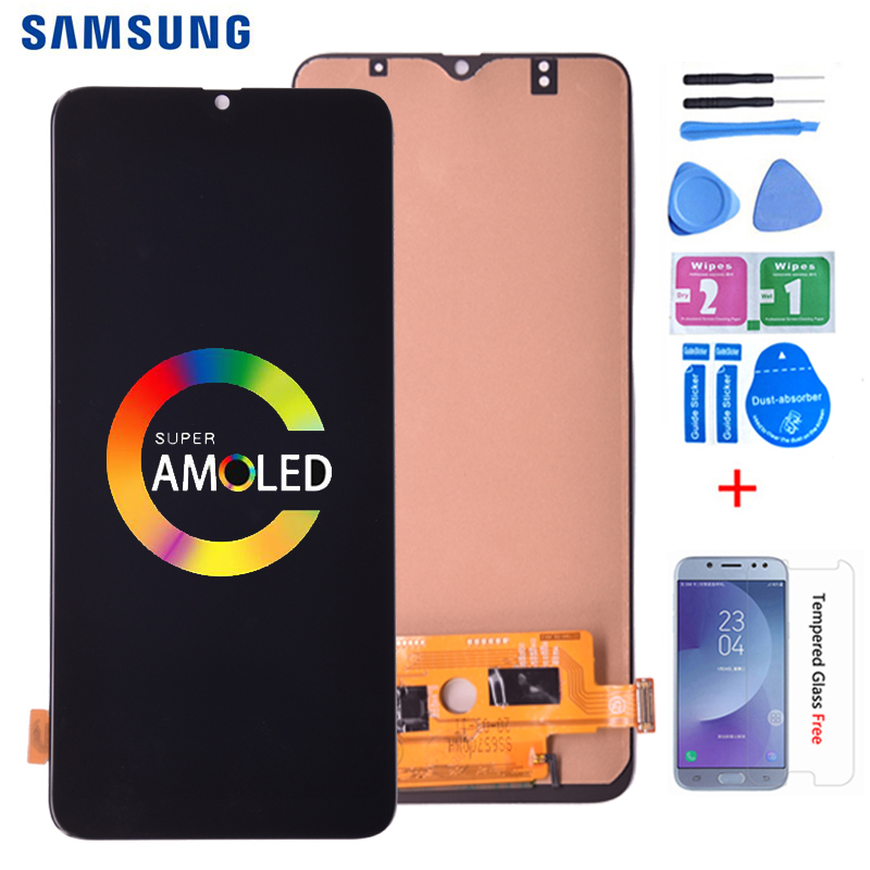 Super AMOLED For <font><b>Samsung</b></font> <font><b>Galaxy</b></font> <font><b>A70</b></font> A705/DS A705F A705FN A705GM <font><b>LCD</b></font> Display With Touch Screen Digitizer Assembly with frame image