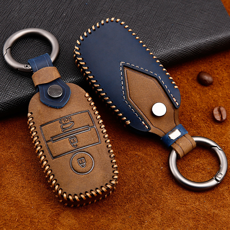 Genuine Leather Genuine Leather Key Case Cover for Kia KX5 K3S RIO Ceed Cerato Optima K5 Sportage Sorento K2 Soul K3 Car Styling