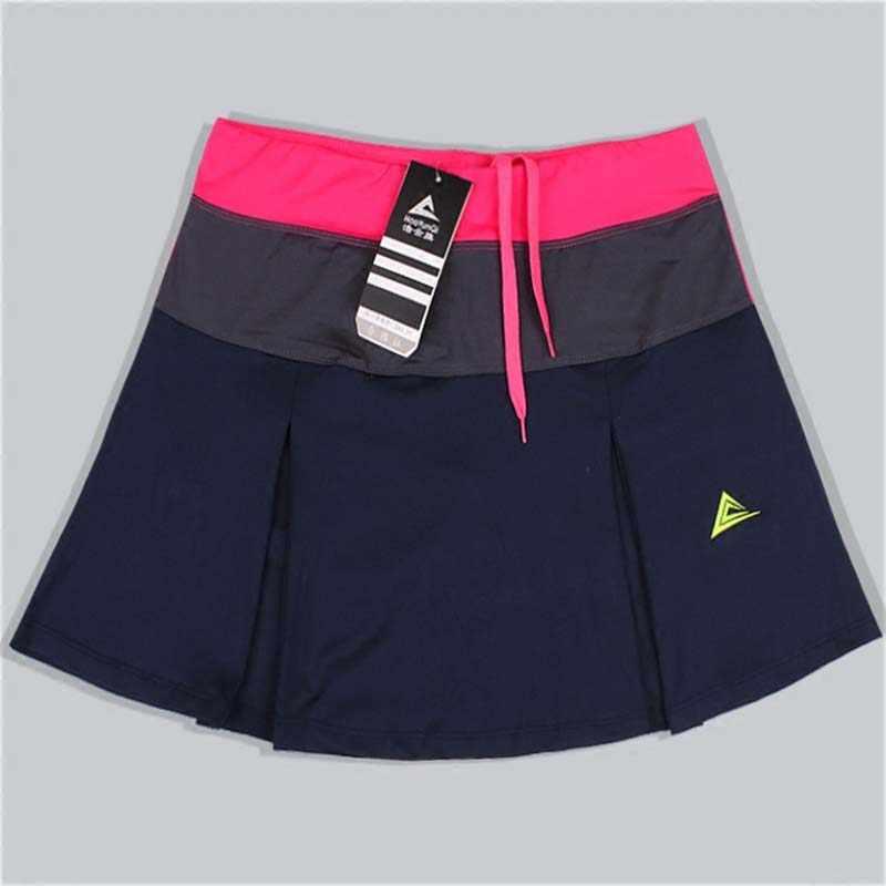 Frauen Sport Badminton Rock Tennis Skorts Frühling Sommer Schnell trocknend Patchwork Weibliche Ausbildung Röcke mit Sicherheit Shorts