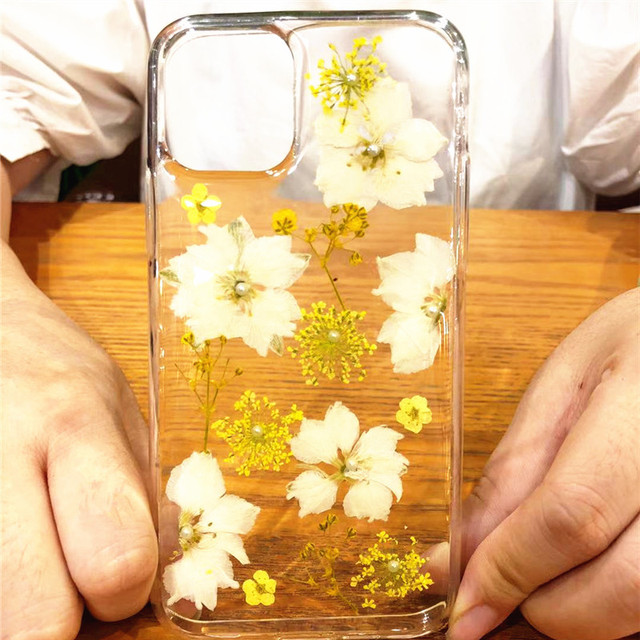 Real Dried Flowers Clear TPU Case for iPhone 11/11 Pro/11 Pro Max 2