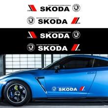 Autocollants de carrosserie de voiture 2 pièces, Film vinyle, logo de mode, pour Skoda Octavia Fabia Rapid Yeti kodiaqsuperbe Octavia A 5 a