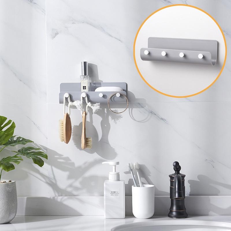 Creative Kitchen Bathroom Hanger Hook Modern Home Adhesize Hooks Key Holder Wall Hook Home Organizer
