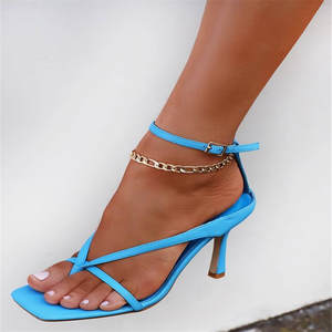 Anklets Beach-Accessories Jewelry Link-Chain Gold-Color Women Fashion WUKALO Cuba