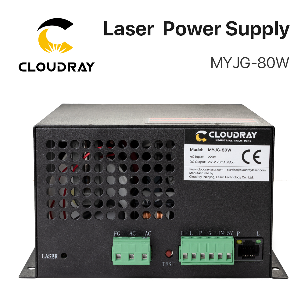 Cloudray 80W CO2 Laser Power Supply 110V for CO2 Laser Engraver MYJG-80W