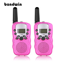 2pcs Mini Walkie Talkie Kids Radio Station T388 0.5W PMR PMR446 FRS UHF 8CH 22CH Portable radio Communicator Gift for Child(China)