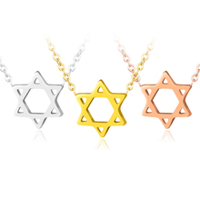 Collare Israel Chain With A Star Of David Pendant Necklace Women Stainless Steel Men Magen Jewish Jewelry Gift