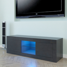 US warehouse LED Two Door TV Cabinet Black End Table TV Stand Dropshipping 125 x Dropshipping