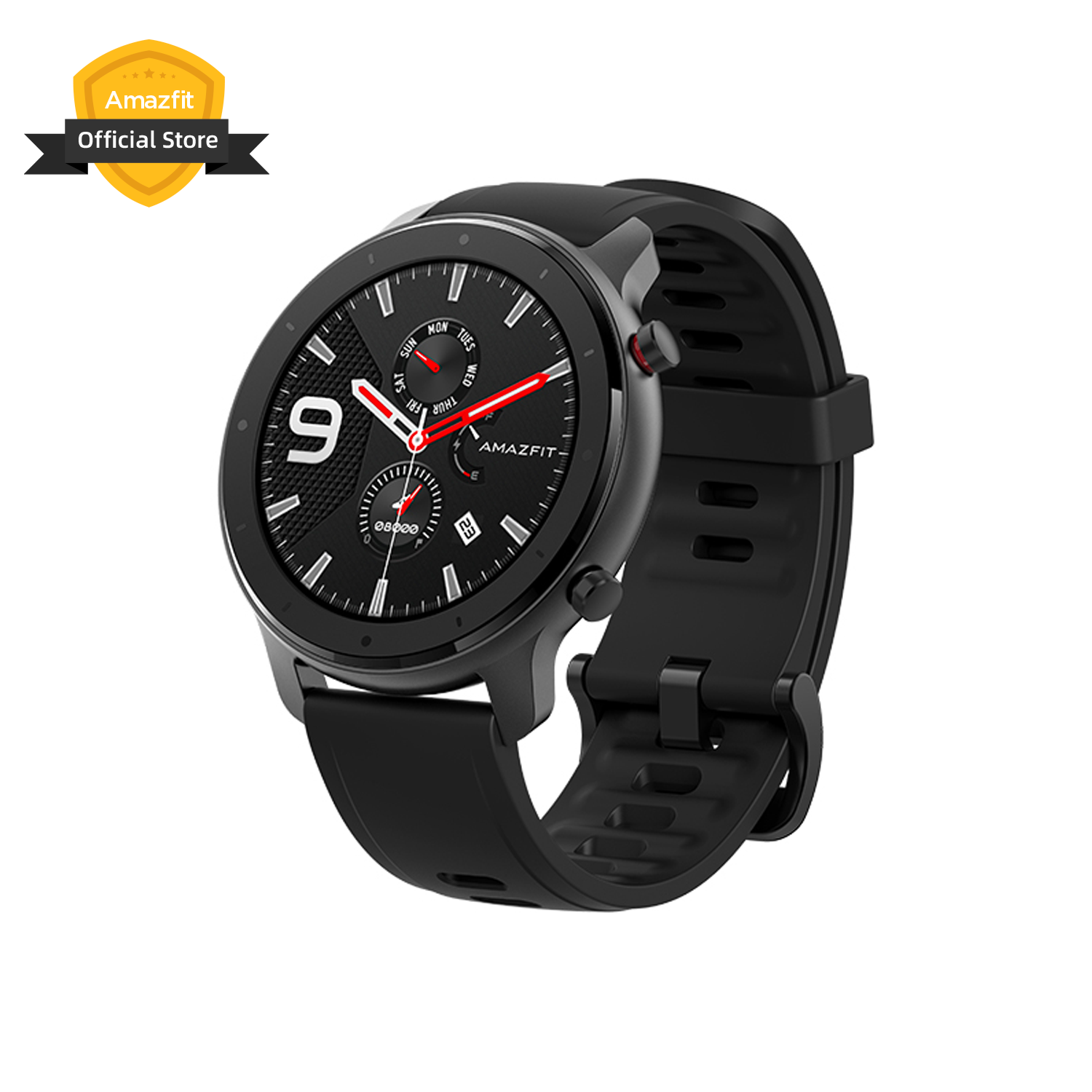 In Stock Amazfit GTR 47mm Lite Smart Watch 5ATM Silicone Strap Smartwatch 24 Days Battery For Android Ios Phone