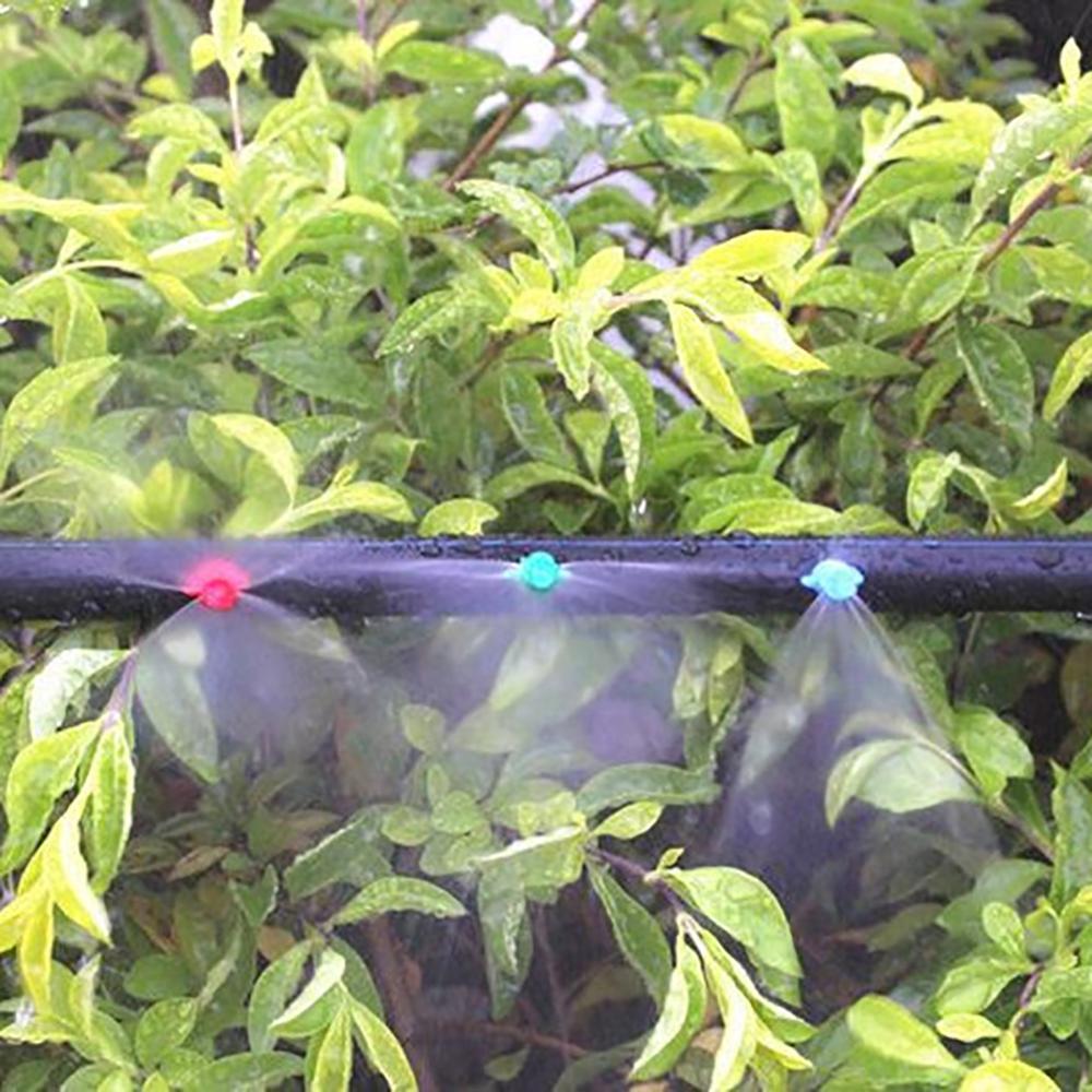 30Pcs 90/180/360 Degrees Refraction Spray Nozzle Garden Greenhouse Irrigation System Misting Sprinkler Head