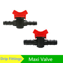 Maxi Valve Mini Ball Valve Barb x Barb Poly Hose Barbed Connector Greenhouse Watering Drip Fittings