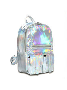 Hologram Backpack Laser Silver-Color School Women's for Student DF111 Hot-Selling Fashion