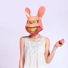 Costume Rabbit Mask Paper-Craft-Model Scary Cosplay DIY 3d Halloween Party-Gift Christmas
