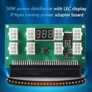 Image 5 - التعدين 750 واط خادم PSU امدادات الطاقة لوحة القطع محول مع شاشة LED 8 منافذ PCI e 6 دبوس ل HP DPS 1200FB DPS 1200QB