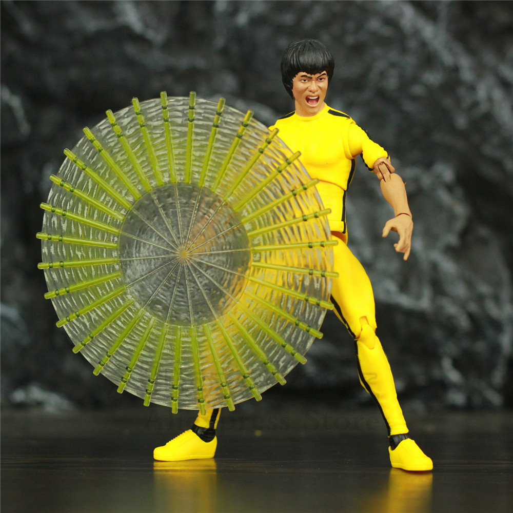 Original Diamond Select Toys Bruce Lee 7 Action Figure China Kungfu Movie Superstar DST Collection Collectible Model Doll image