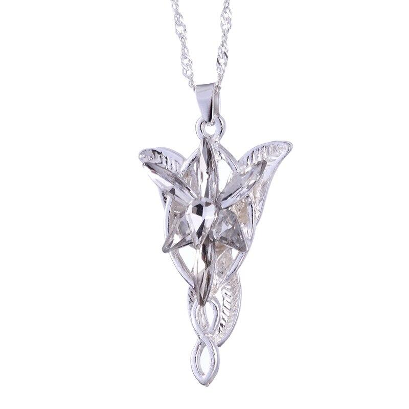 Мода Властелин Рин gs ожерелье Вечерняя звезда кулон ожерелье кристалл Сумеречная звезда кулон ожерелье женские ювелирные изделия