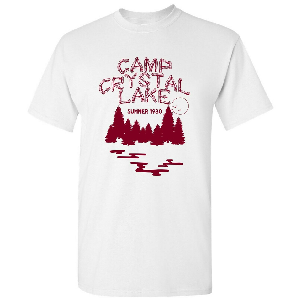 Camp Crystal Lake Funny 80s Horror Movie Halloween T-Shirt homme Plus Size Tops Tee Shirt image