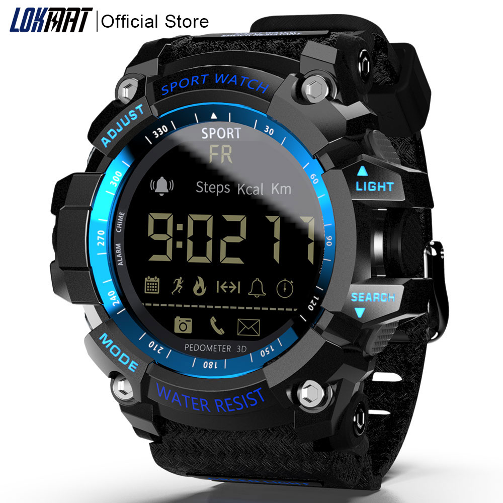 LOKMAT Smart Watch bluetooth digital men clock Pedometer smartwatch Waterproof IP67 Sport For ios Android Phone-in Smart Watches from Consumer Electronics on AliExpress