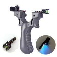 Tirachinas de caza potente Outerdoor con banda de goma Catapulta de cuero bolsillo de plástico táctico profesional Sling Bola de tiro