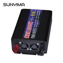 SUNYIMA 2000 Вт Чистая Синусоидальная волна автомобильный инвертор DC12V/24 В/48 В к ac220в двойной цифровой дисплей усилитель конвертера мощности для DIY