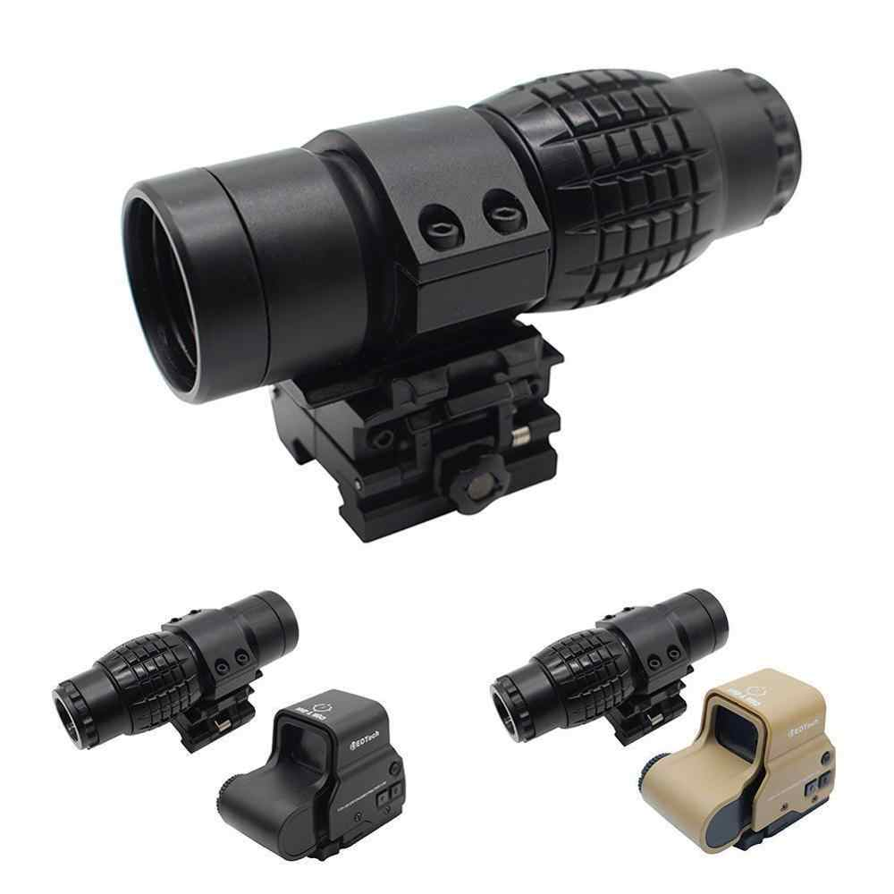 טקטי Red Dot Sight Sight 3X זכוכית מגדלת עבור FTS Flip עבור צד הר 20mm Rail ציד אופטי Riflescope