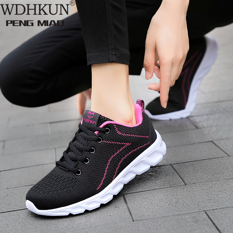 Women Casual Shoes Fashion  White Vulcanized Shoes Breathable Walking Mesh Sneakers Women Shoes Chunky Sneakers Tenis Feminino