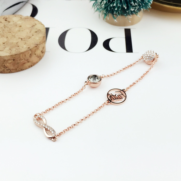 High Quality SWA New Swan Series Mini Jewelry Women 39 s Bracelet in Chain amp Link Bracelets from Jewelry amp Accessories