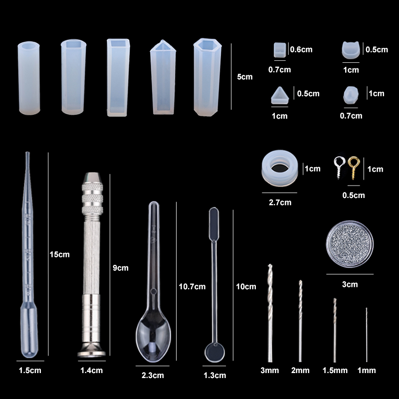 Earring-Findings Mold-Kits Jewelry Casting-Tools Epoxy-Jewelry-Making-Supplies Epoxy Resin