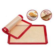 Esteiras de cozimento de silicone reutilizáveis antiaderente churrasqueira almofada de esteira de cozimento de placa de forno de cozimento de piquenique bandeja de biscoito forno de churrasco tlsm