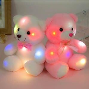 Toys Lighting Gifts Glowing Stuffed Plush Birthday-Girls Bear Children Luminous White