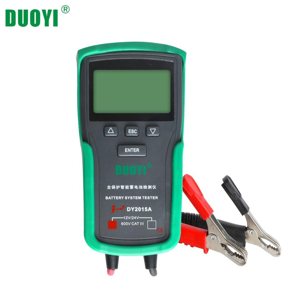 Duoyi dy2015a analisador testador de bateria de carro chumbo ácido cca carga bateria teste digital automotivo bateria capacidade tester