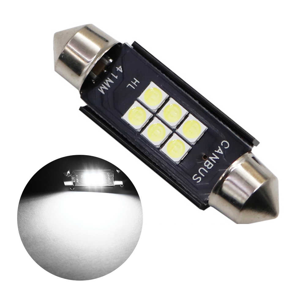 31mm 36mm 39mm 41mm Car LED Bulb C5W C10W 3030 LED CANBUS Auto Interior Dome Lamp Reading Bulb