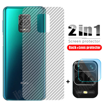 2in1 Camera Lens Tempered Glass For Xiaomi Redmi Note 9 Pro 9S + Carbon Fiber Screen Protector For Redmi Note 9 8 Pro 9S 8T Film 3 in 1 film camera glass for redmi 9s note 8 t 8 pro glass screen protector xiaomi redmi note8 pro redmi note 9 s screen protector 8t redmi note 8 pro 9s glass