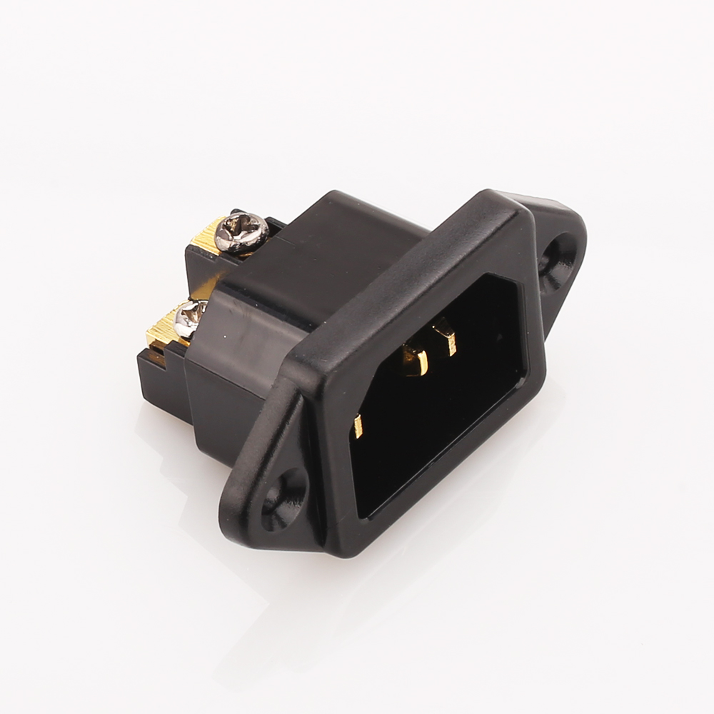 Hi-End Pure Copper 24K Gold Plated IEC AC Inlet Socket