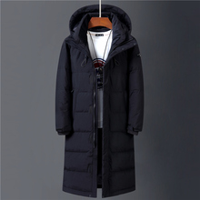 2020 Winter 90 White Duck Down Jacket Men Hooded Fashion High Quality Long Thicken Warm Down Coat Loose Black Overcoat Parkas cheap CN(Origin) YJ1908 Casual zipper Full Pockets Thick (Winter) Broadcloth Polyester NONE 150g-200g Solid X-Long 1 35KG S M L XL 2XL 3XL
