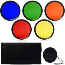 Estojo de transporte dos filtros do tampão da lente do jogo do filtro da cor completa de 62mm para a lente da câmera de 18 270 18 200 70 300mm de tamron