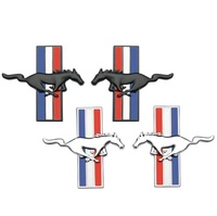 decals rear trunk emblem 1 Pair 3D Metal Mustang Car Side Fender Rear Trunk Emblem Badge Sticker Decals Accessories For Ford Mustang GT Car-styling (2)