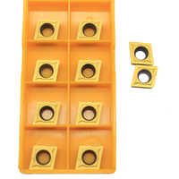 10 piezas ccccmt32.51 UE6020 herramientas de torneado externo herramientas de corte de torno de inserción de carburo