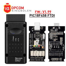 opcom V1.99 V1.78 V1.65 with PIC18F458 FTDI op com diagnostic OBD2 Auto Scanner tool for Opel Car CAN BUS V1.7 flash update free
