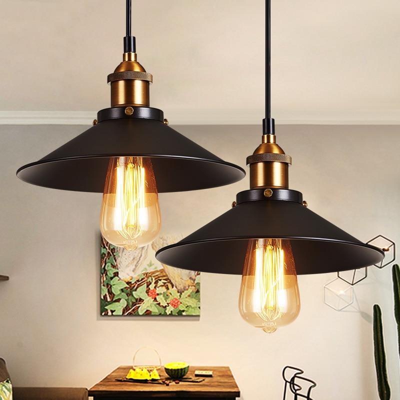 Retro Industrial  Pendant Lights  Pendant Lamp  Light Fixtures  Hanging  Dinning Room Lights  Vintage  Lampshade Loft Edison Bar