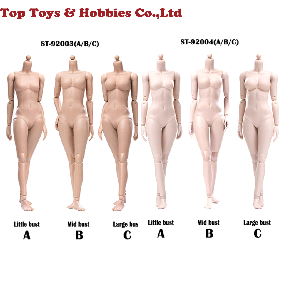 Pre-sale Suntan/Pale Color POPTOYS 92003 92004 1/6 Female Body Model 12'' Action Figure Super Flexible Female Body Plastic Joint