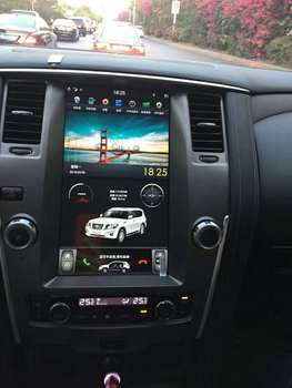 """12.1"""" tesla style vertical screen android 9.0 Six core Car GPS radio Navigation for Nissan Patrol SE 2012-2018"""