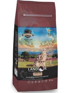 Landor Grain Free For Cats Hairball&Weight Control корм для кошек профилактика комков шерсти и веса, Ягненок и батат, 2 кг.